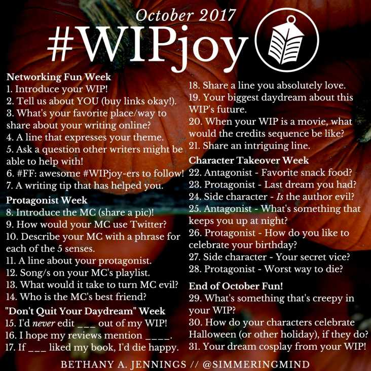 #WIPJoy Writer Question